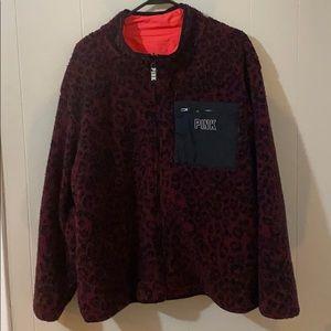 PINK fleece zip up jacket